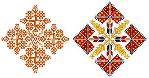 Romanian traditional carpet themes. Two traditional romanian models for carpets Royalty Free Stock Photo