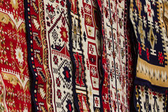 Romanian traditional carpets Royalty Free Stock Photos