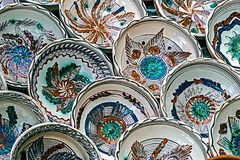 Romanian traditional ceramic plates 2 Royalty Free Stock Image