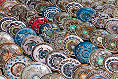 Romanian traditional ceramic plates 1 Stock Photo