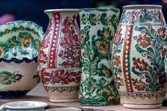 Romanian traditional ceramic for Corund, Transylvania area Stock Images
