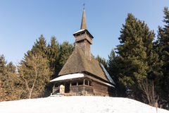 Romanian traditional church from Maramures county Stock Photo