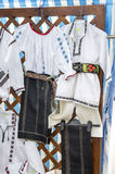 Romanian traditional clothes Stock Images