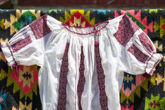 Romanian traditional clothes Stock Image