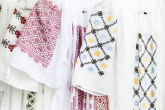 Romanian traditional costume. Detail of romanian traditional costume royalty free stock photography