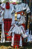 Romanian traditional costumes 1 Stock Photo
