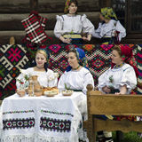 Romanian traditional costumes, Maramures Stock Photography