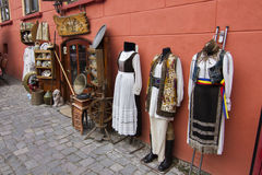 Romanian traditional costumes Stock Photos