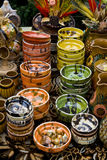 Romanian traditional cups and bowls Royalty Free Stock Photo