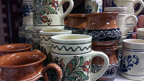 Romanian traditional cups Stock Photo