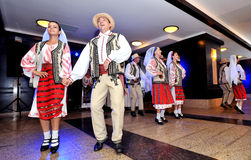 Romanian traditional dance Royalty Free Stock Images