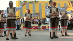 Romanian traditional dance at the International Folklore Festival stock video footage