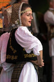 Romanian traditional dance with specific costumes 3 Royalty Free Stock Photo