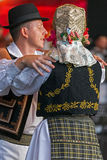 Romanian traditional dance with specific costumes 1 Royalty Free Stock Images