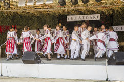 Romanian traditional dances Royalty Free Stock Images