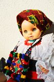 Romanian traditional doll, close-up Royalty Free Stock Images