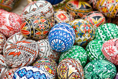 Romanian traditional easter eggs Stock Image
