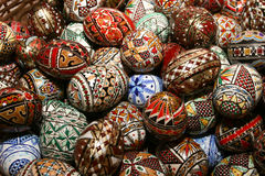 Romanian traditional easter eggs Stock Photo