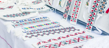 Romanian traditional embroidery Royalty Free Stock Photos