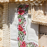 Romanian traditional fabric Stock Images