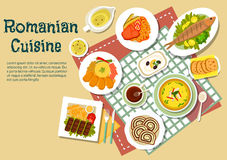 Romanian Traditional Festive Dishes Flat Icon Royalty Free Stock Images