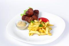 Romanian traditional food mititei Stock Photo