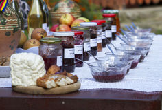 Romanian traditional food. On a table royalty free stock photos
