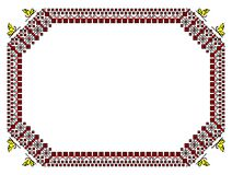 Romanian traditional frame - cdr format. Romanian traditional frame in red and black with stylized butterflies Royalty Free Stock Images