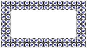 Romanian traditional frame - cdr format. Traditional romanian floral frame in blue and black Royalty Free Stock Photo
