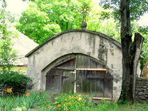 Romanian traditional gate. Picture taken at the Village Museum of Bucharest Royalty Free Stock Photography