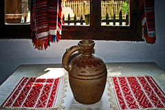Romanian traditional home interior 4 Stock Images