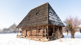 Romanian traditional house from Maramures county Stock Image