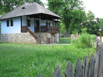 Romanian traditional house. At the Village Museum of Bucharest Stock Photo
