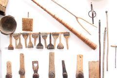 Romanian traditional objects of peasant Stock Image