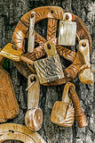 Romanian traditional objects of wood 2 Royalty Free Stock Photo