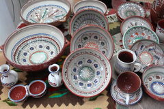 Romanian traditional pottery Royalty Free Stock Image