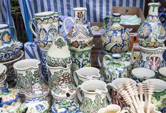 Romanian traditional pottery Royalty Free Stock Photos