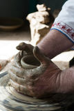 Romanian traditional pottery making Stock Photography