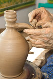 Romanian traditional pottery making Stock Image