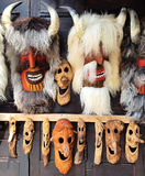 Romanian Traditional Ritual Folk Dance Masks - Old Man Royalty Free Stock Photo
