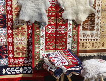 Romanian traditional rug Stock Image