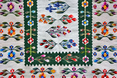 Romanian traditional rug. Woven with colored wool Royalty Free Stock Images