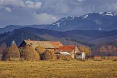 Romanian traditional rustic farm Royalty Free Stock Image