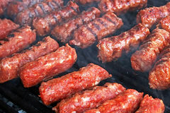 Romanian traditional sausages Royalty Free Stock Images
