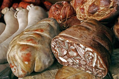 Romanian traditional sausages-1 Royalty Free Stock Photo