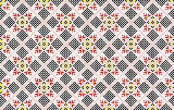 Romanian traditional seamless pattern - cdr format. Romanian traditional seamless pattern representing stylised flowers and geometrical shapes Stock Photo