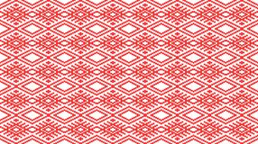 Romanian traditional seamless pattern - cdr format. Romanian traditional seamless pattern with geometrical shapes stock illustration