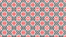 Romanian traditional seamless pattern - cdr format. Romanian traditional seamless pattern with geometrical shapes Royalty Free Stock Photos