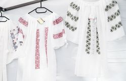 Romanian traditional shirts Stock Photography