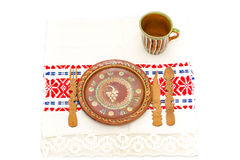 Romanian traditional table arrangement Royalty Free Stock Photo